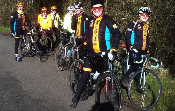 Club ride to Ellisfield, Hampshire