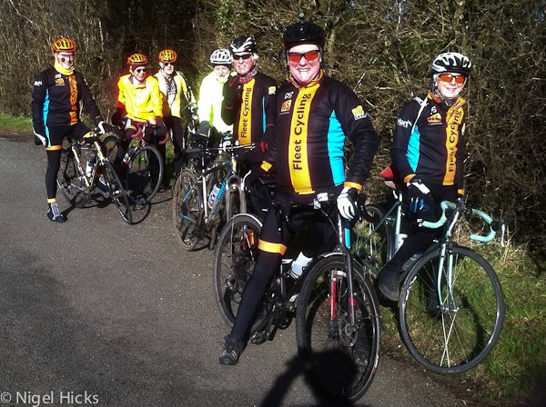 Club ride to Ellisfield, Hampshire
