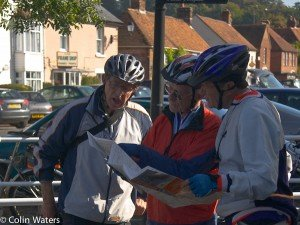 Jack, Bob and Alan checking the route